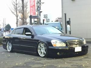 INFINITI Q45 JIC車高調付エアサスキット アキュエアー施工ブログ